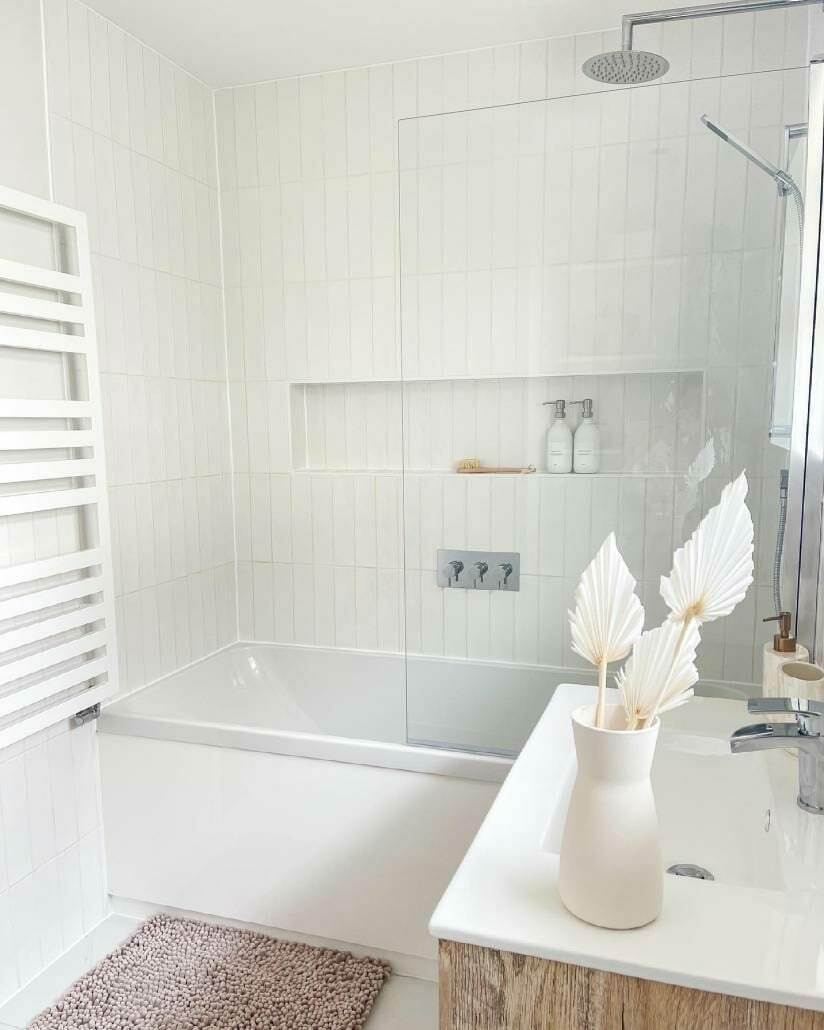 new shower area