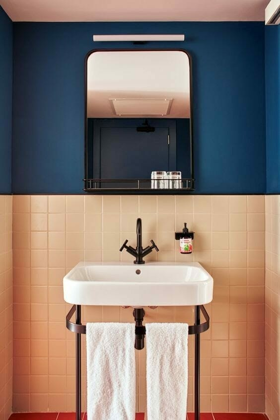 Even Bolder Colour Blocks - Brave Bathroom Flooring