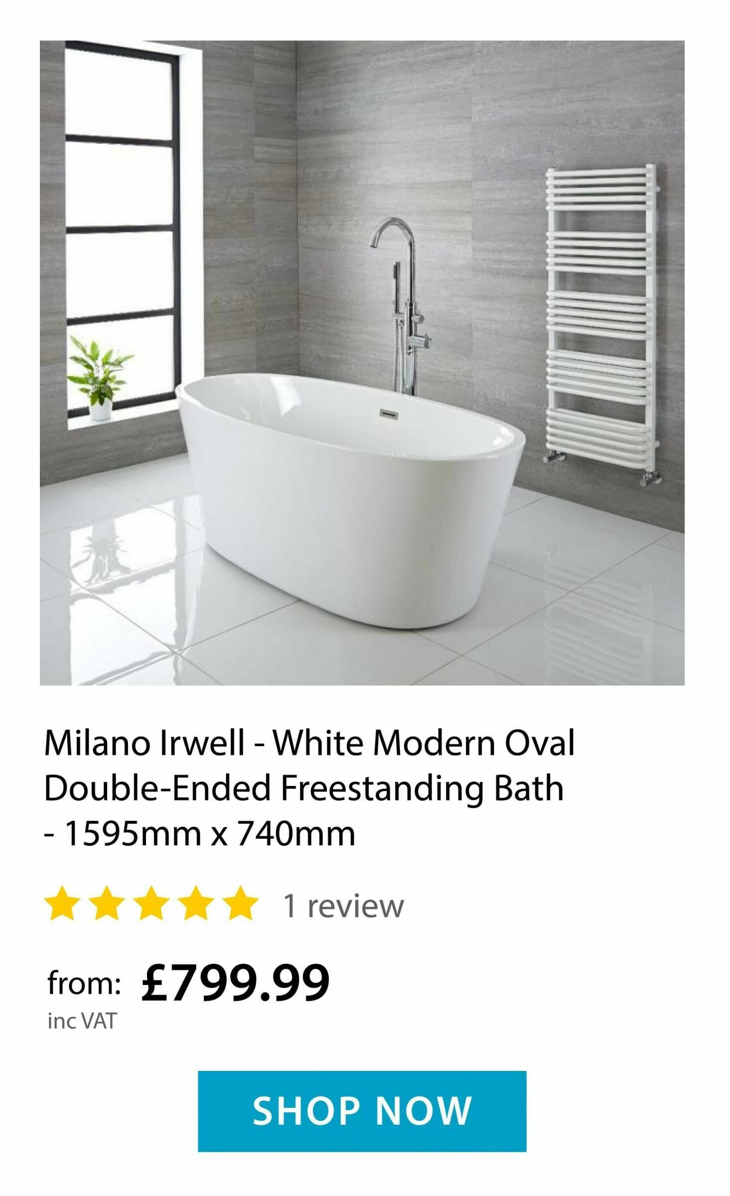 Milano Irwell Freestanding Bath Tub
